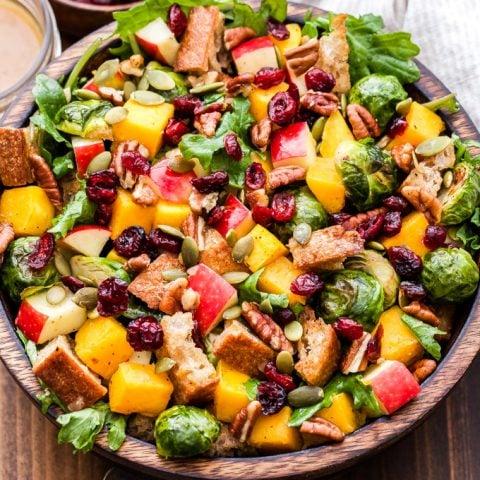 Fall Roasted Vegetable Panzanella Salad