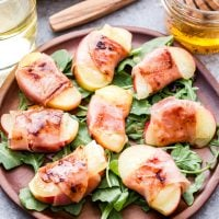 Prosciutto Wrapped Apples with Manchego Cheese