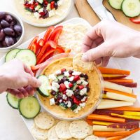 Hummus with Greek Toppings
