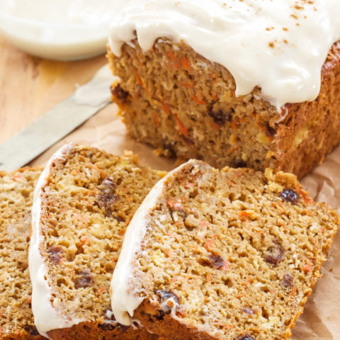 Oatmeal Carrot Cake Bread