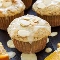 Orange Almond Poppy Seed Muffins