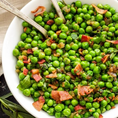 Sautéed Herbed Peas with Bacon