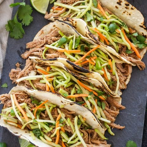 Slow Cooker Korean Pork Tacos
