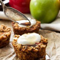 Baked Apple Cinnamon Oatmeal Cups