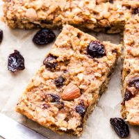 Cherry Almond Red Lentil Granola Bars