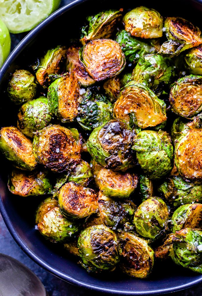 Chili Honey Lime Roasted Brussels Sprouts Recipe Runner