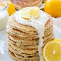 Meyer Lemon Poppy Seed Pancakes