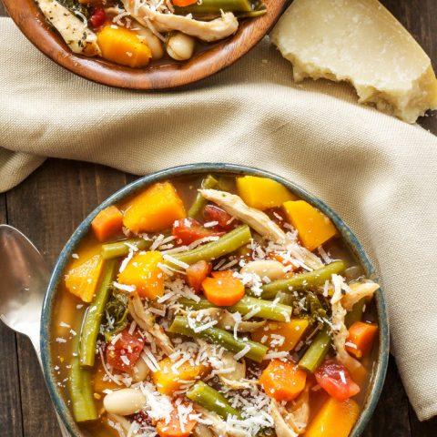 Pesto Chicken and Vegetable Soup