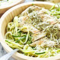 Pesto Chicken with Zucchini Noodles