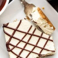 Vanilla Bean Cheesecake Bars with Chocolate Ganache