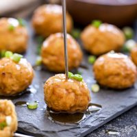 Bourbon Apple Cider Glazed Turkey Meatballs
