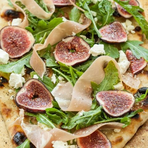 Fig, Prosciutto and Goat Cheese Grilled Pizza