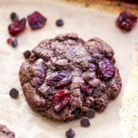Paleo Double Chocolate Cranberry Cookies