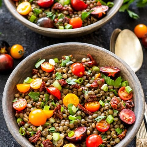 The Best Marinated Lentils