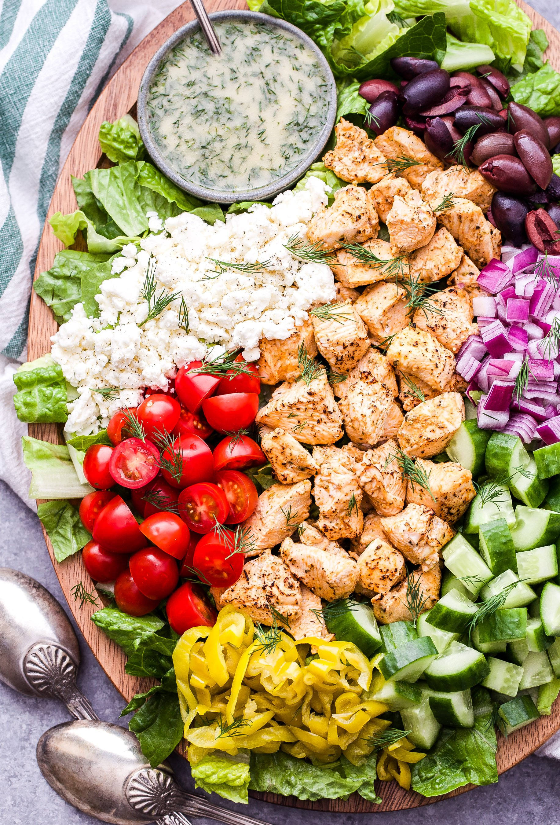 Chicken Souvlaki Salad Recipe Runner