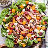 Steak Salad with Sweet Potatoes, Feta and Cranberries