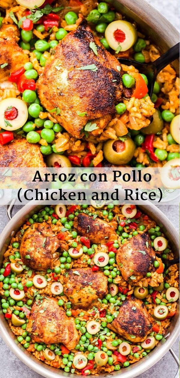 Arroz con Pollo collage for Pinterest