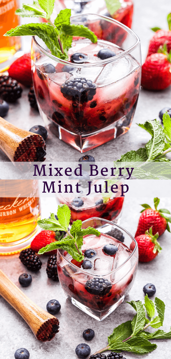 Mixed Berry Mint Julep Pinterest collage