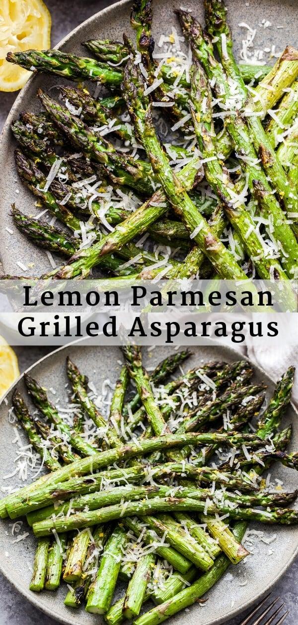 Lemon Parmesan Grilled Asparagus Pinterest collage