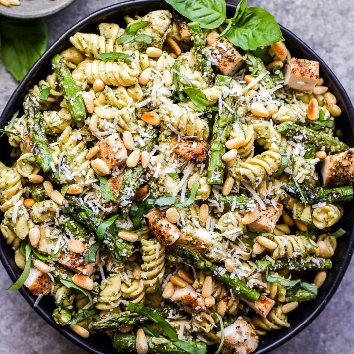 Grilled Chicken And Asparagus Pesto Pasta Recipe Runner