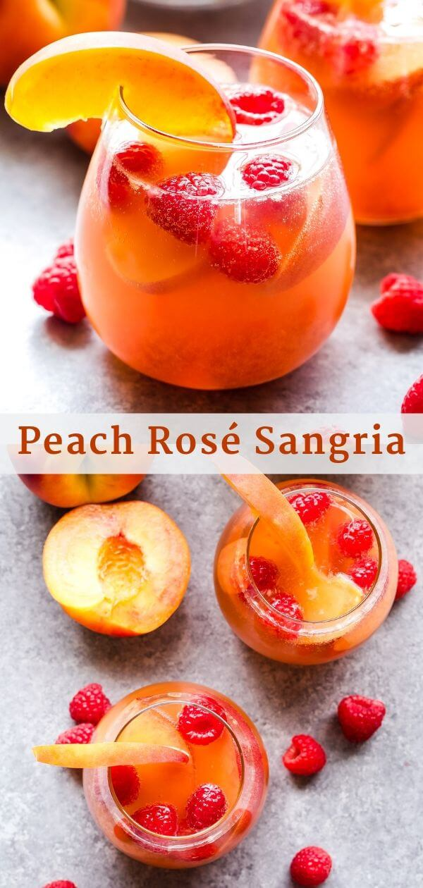 Peach Rosé Sangria Pinterest Collage