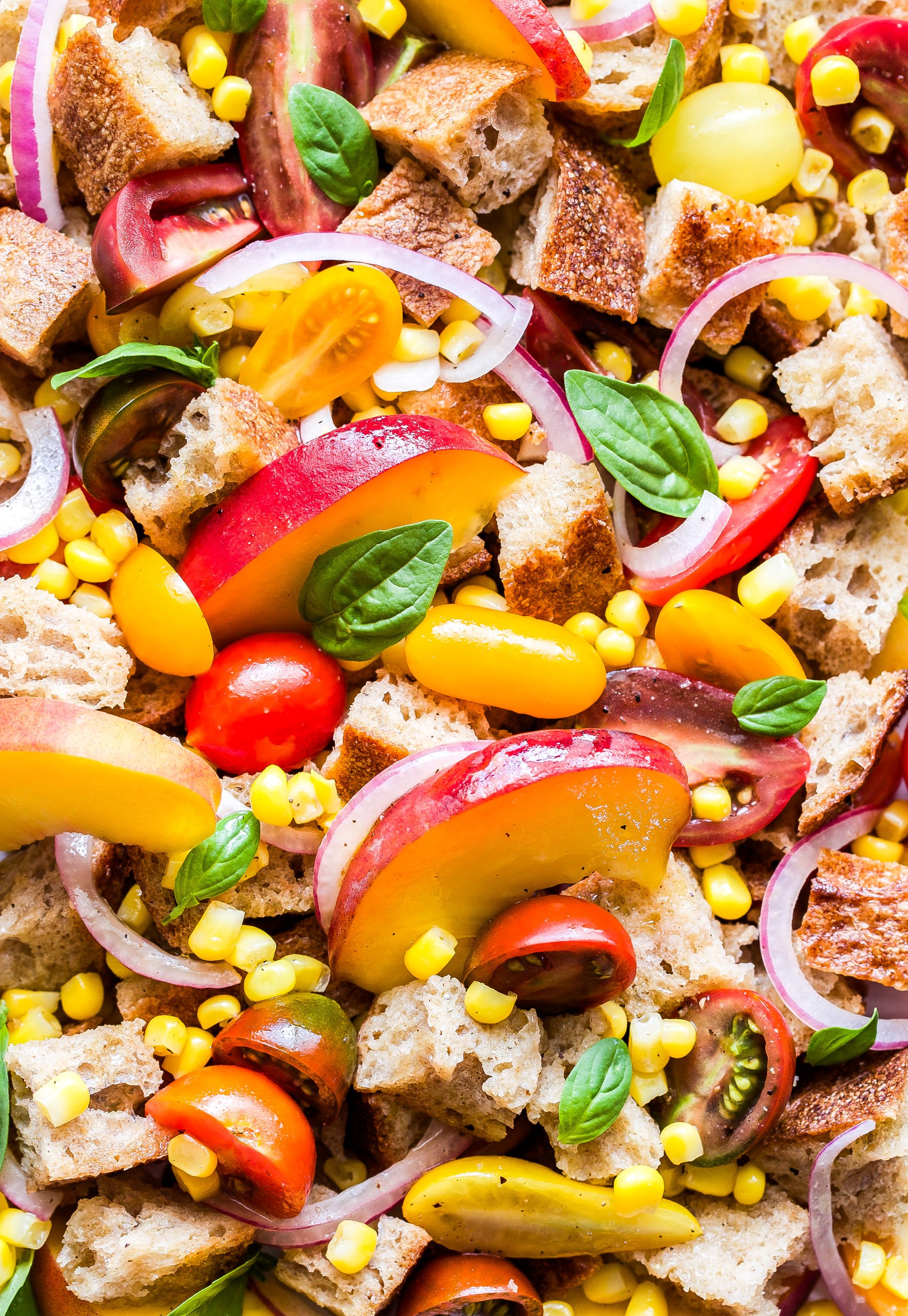 Peach Tomato And Corn Panzanella Recipe Runner