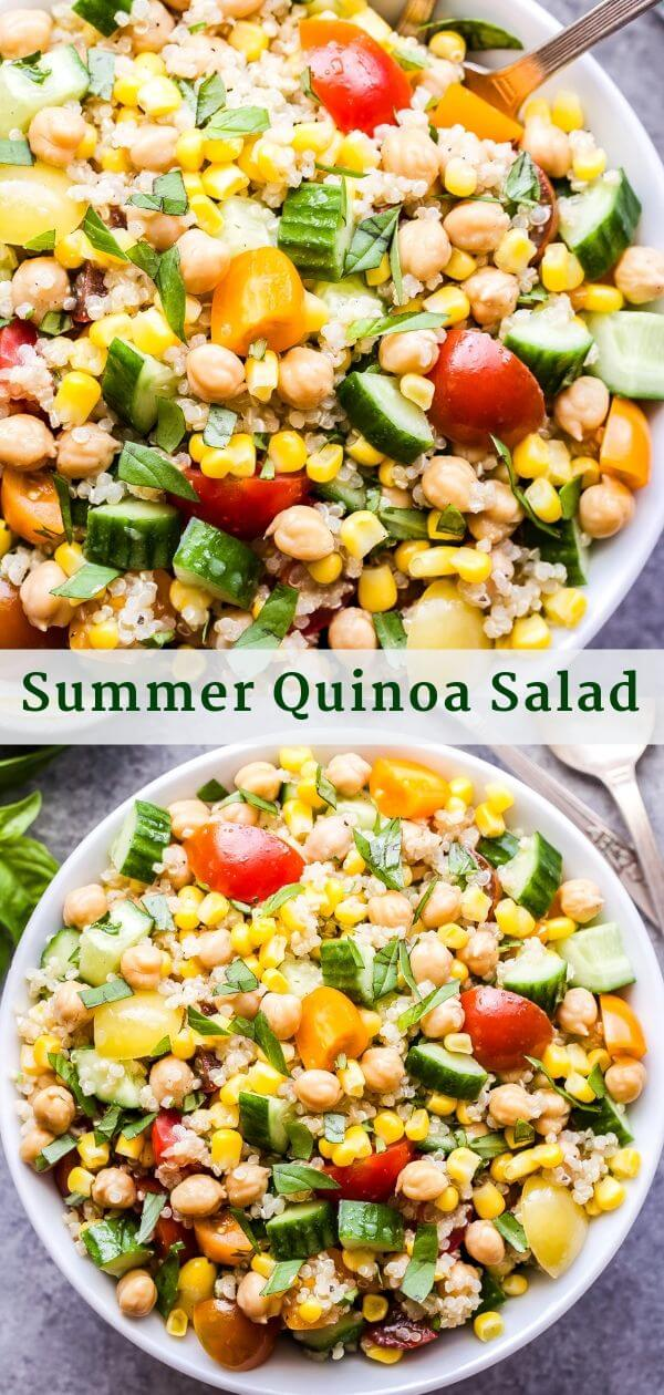 Summer Quinoa Salad Pinterest Collage