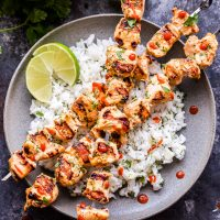 Coconut Lime Chicken Skewers