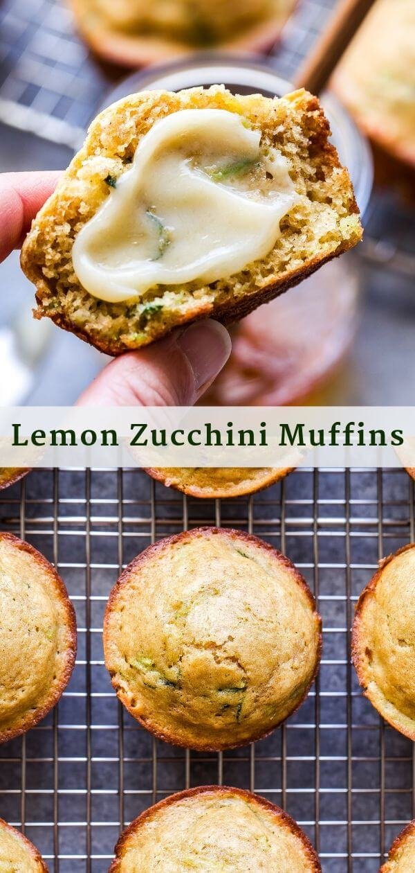 Lemon Zucchini Muffins Pinterest Collage