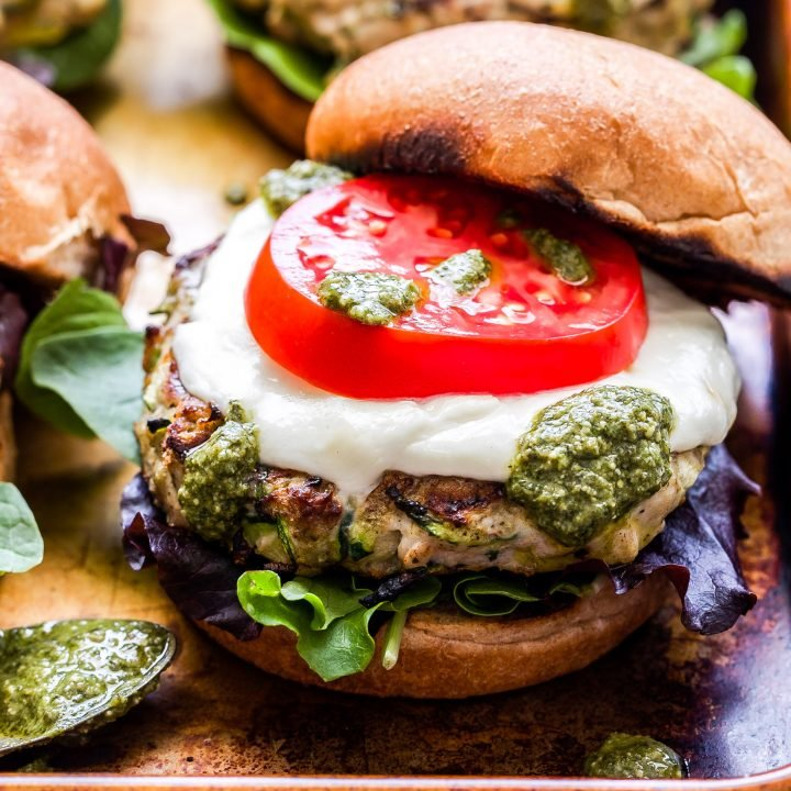 Pesto Zucchini Turkey Burgers