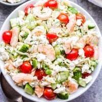 Shrimp Orzo Salad with Feta and Herbs