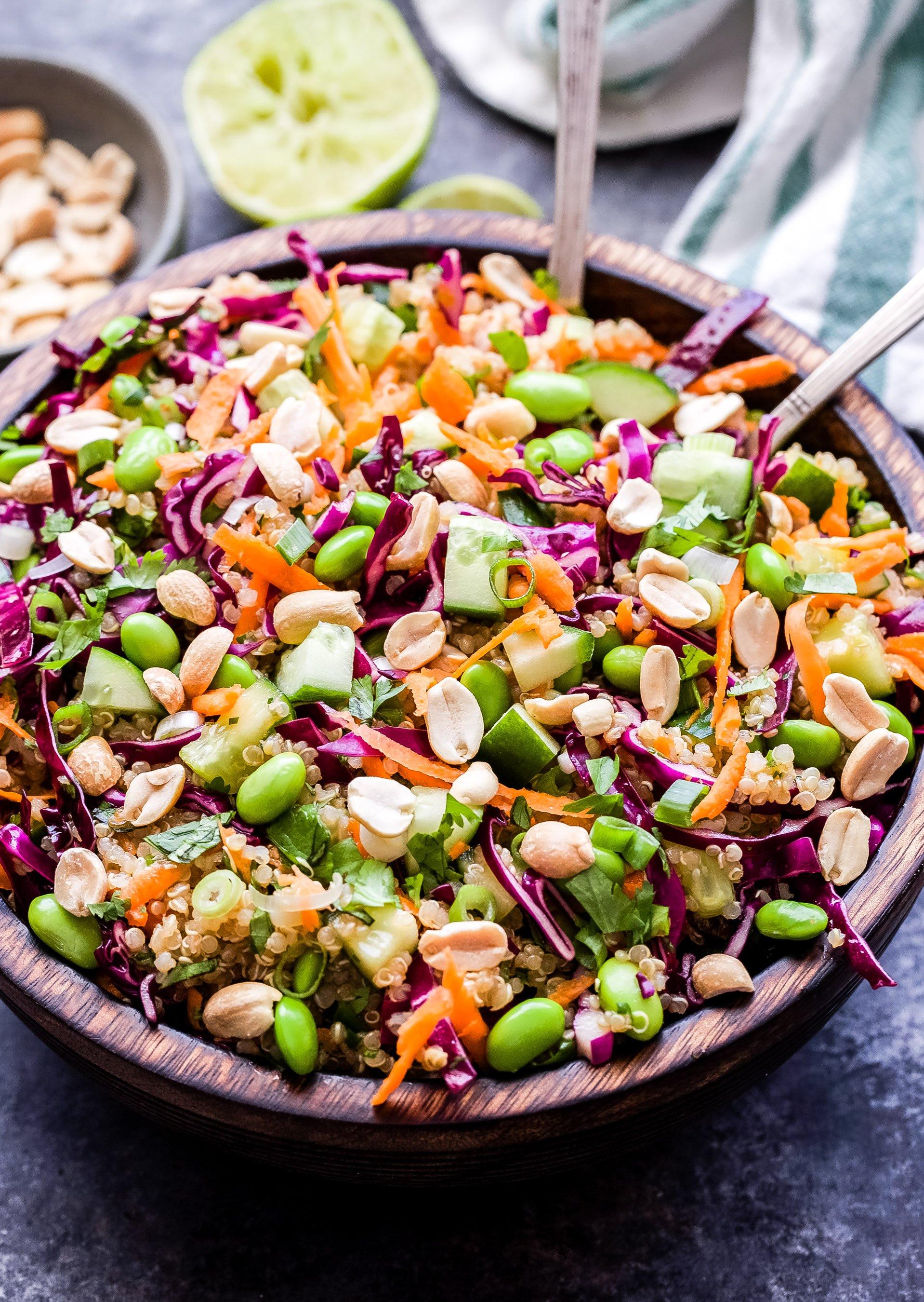 Thai Quinoa Salad Recipe Runner