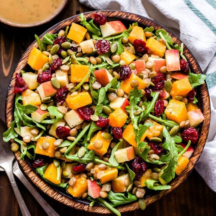 Harvest Butternut Squash Lentil Salad