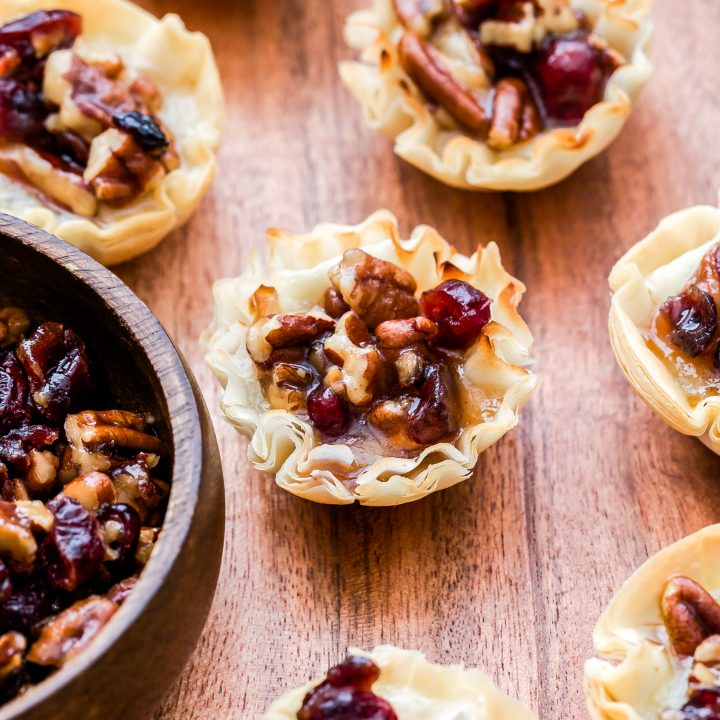 Cranberry Maple Pecan Baked Brie Bites