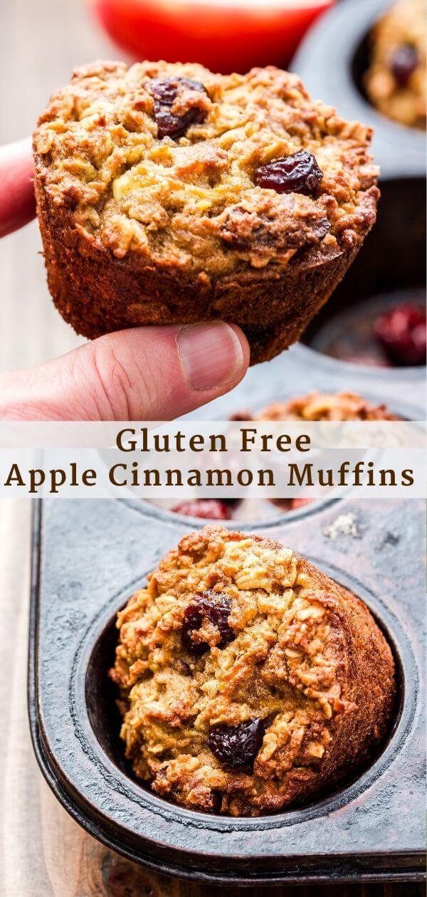 Gluten Free Apple Cinnamon Muffins Pinterest Collage