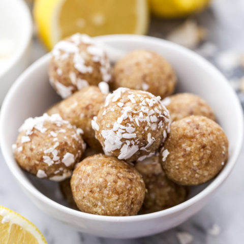 Lemon Coconut Cashew Energy Bites