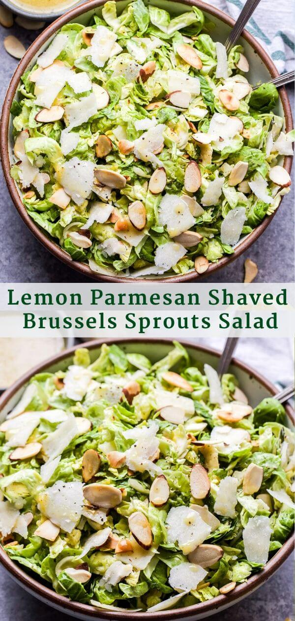 Lemon Parmesan Shaved Brussels Sprouts Salad Pinterest Collage