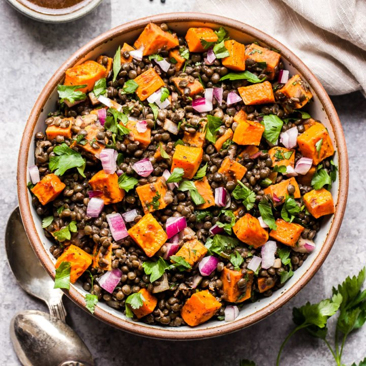 Roasted Sweet Potato Lentil Salad Recipe Runner