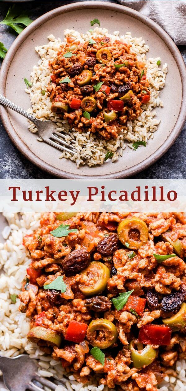 Turkey Picadillo Pinterest Collage.
