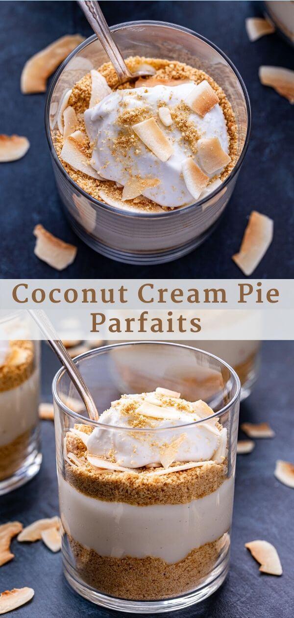 Coconut Cream Pie Parfaits Pinterest Collage