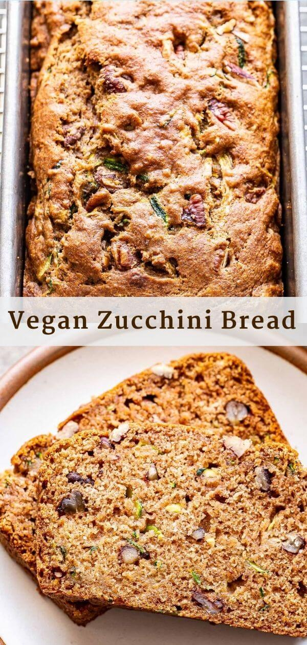 Vegan Zucchini Bread Pinterest Collage