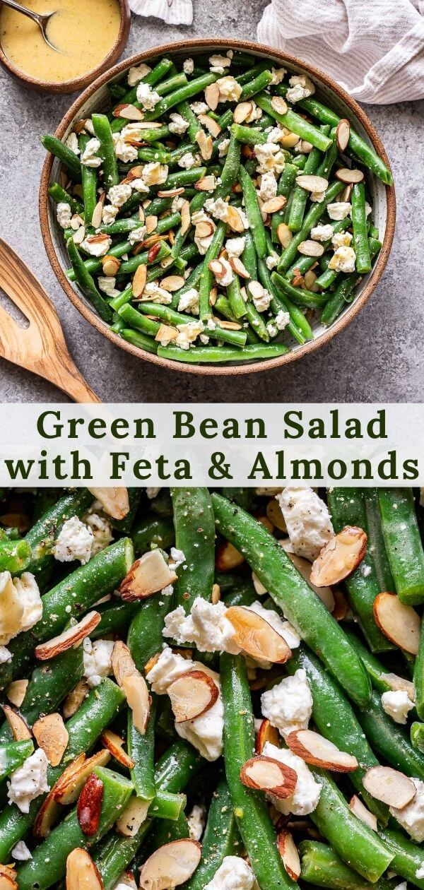 Green Bean Salad with Feta Pinterest Collage.