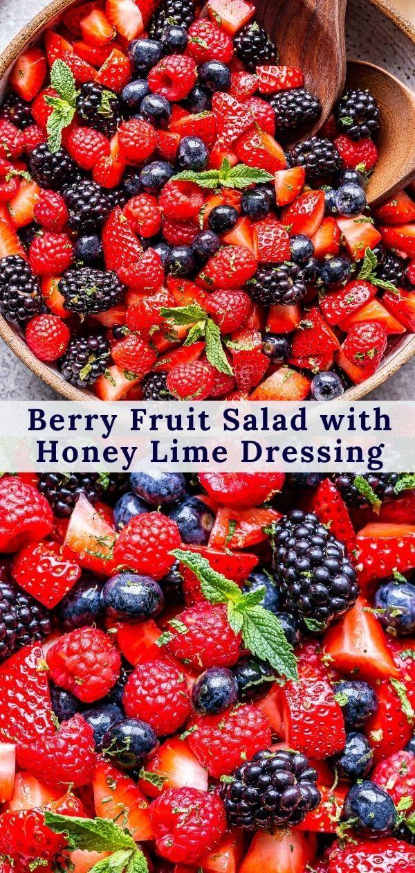 Berry Fruit Salad Pinterest collage