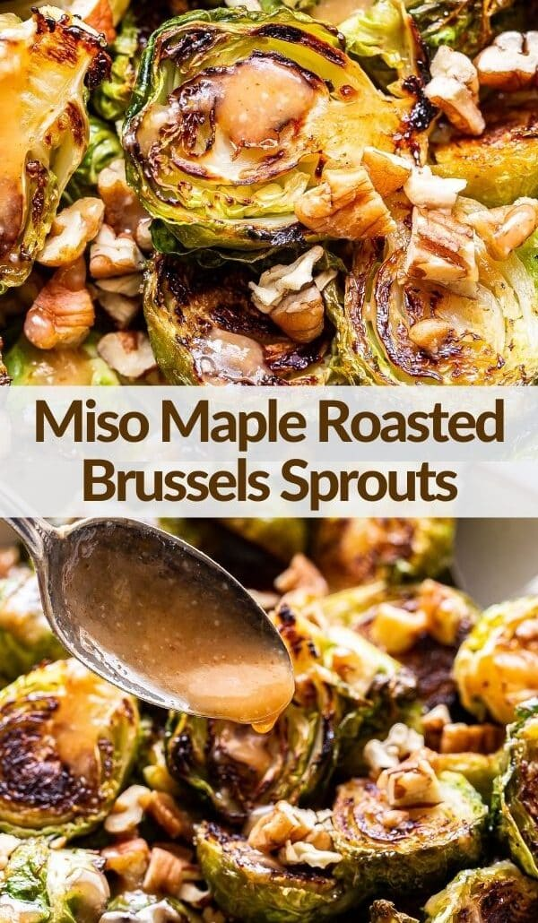 Miso roasted brussels sprouts pinterest collage