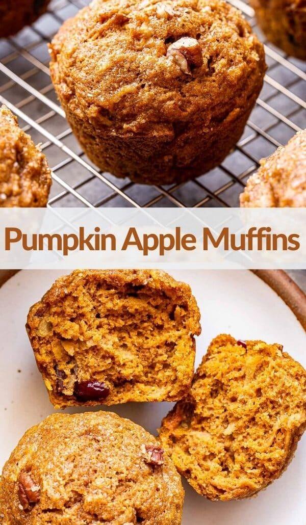 Pumpkin Apple Muffins pinterest collage