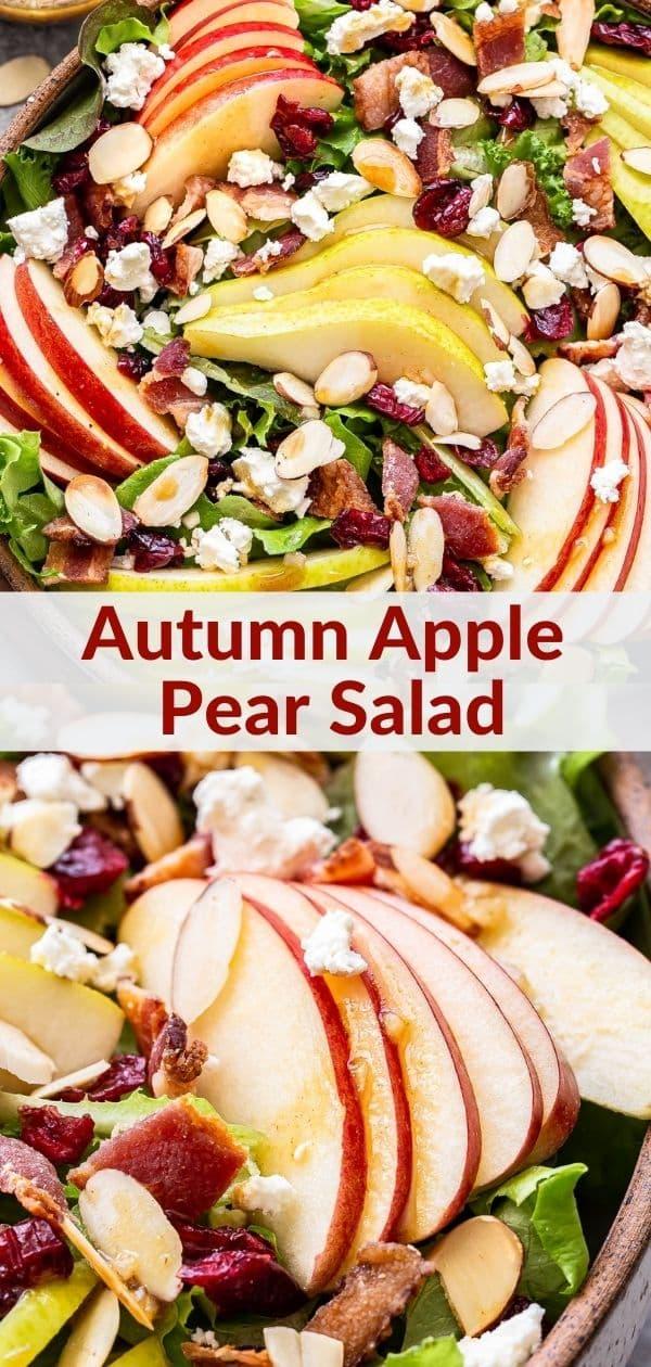 Autumn Apple and Pear Salad pinterest collage