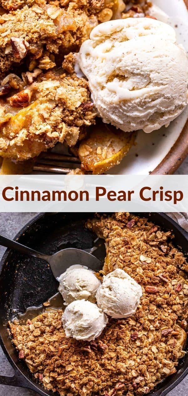 Pear Crisp pinterest collage.